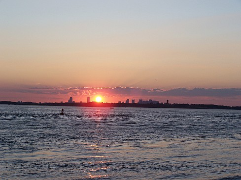World Travel Photos :: USA - Massachusetts -  Boston :: Sunset over Boston