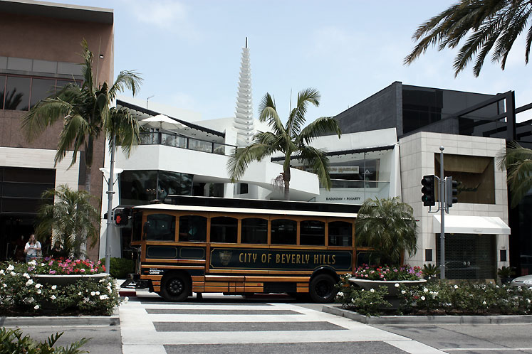 World Travel Photos :: USA - California - Beverly Hills :: California. City of Beverly Hills Bus