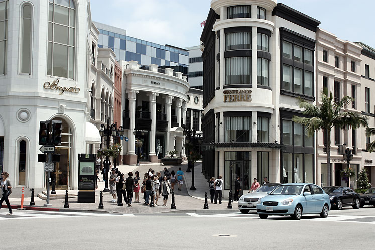 World Travel Photos :: USA - California - Beverly Hills :: Beverly Hills. Rodeo Drive shopping district