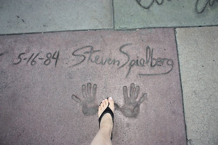 World Travel Photos :: USA - California - Hollywood :: Hollywood. Handprints of Steven Spielberg