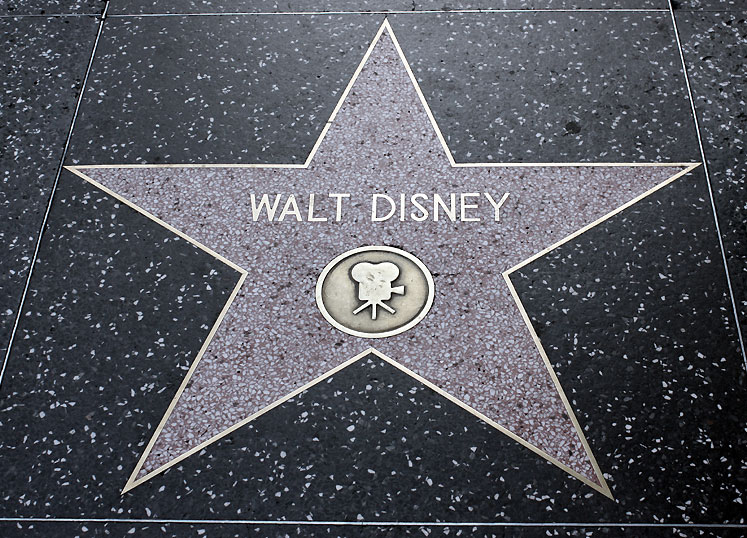 World Travel Photos :: USA - California - Hollywood :: Hollywood Walk of Fame - Walt Disney