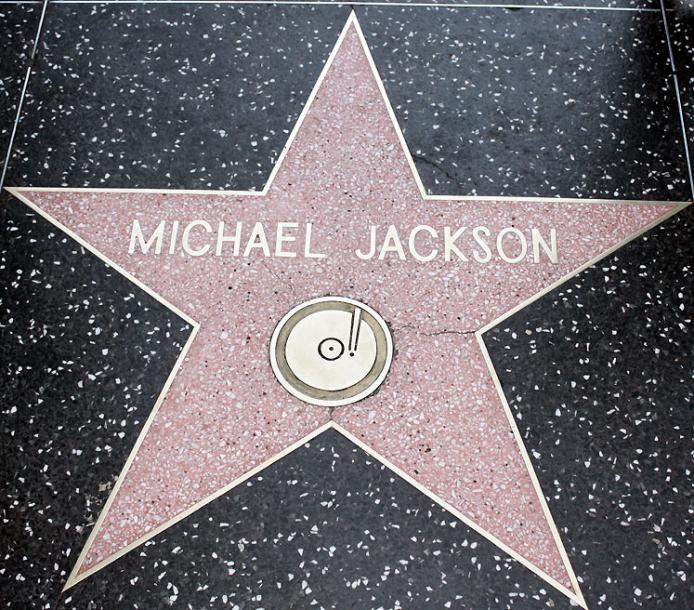 World Travel Photos :: USA - California - Hollywood :: Hollywood. A star of Michael Jackson on Hollywood Walk of Fame