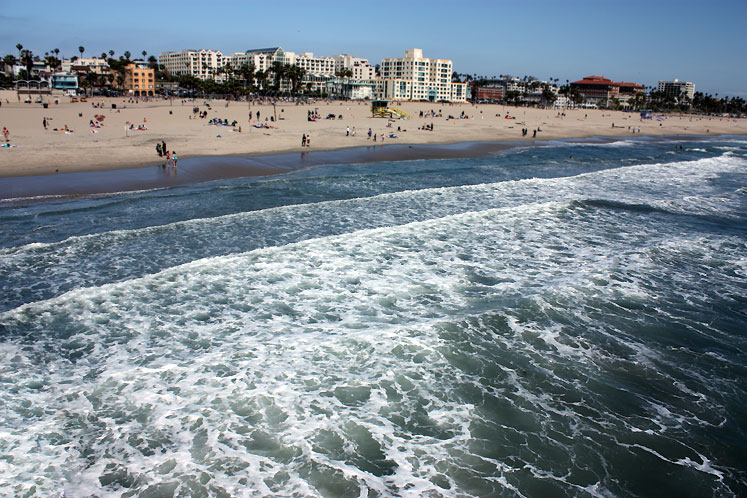 World Travel Photos :: USA - California - Santa Monica :: California. Santa Monica - a beach