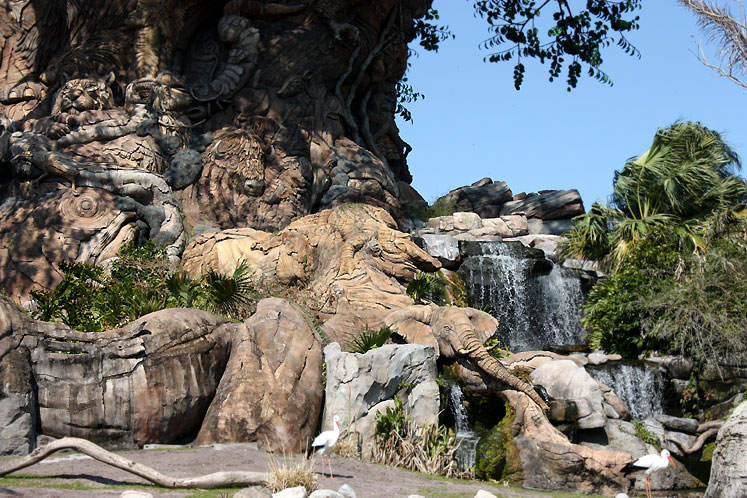 World Travel Photos :: Disney´s Animal Kingdom :: Orlando. A carved tree in Disney´s Animal Kingdom