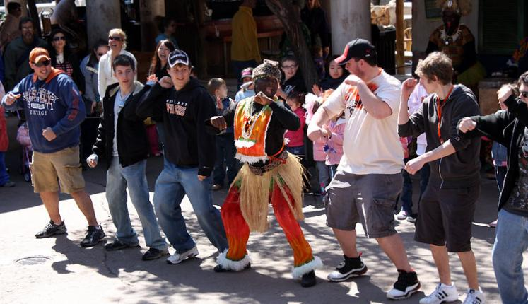 World Travel Photos :: USA - Florida - Orlando - Disney World :: Orlando. A dancing in Animal Kingdom