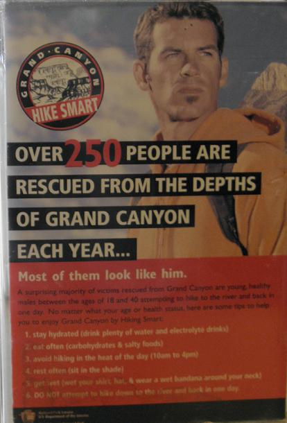World Travel Photos :: USA - Arizona - Grand Canyon :: Arizona. Awarning  poster at McDonalds at Grand Canyon