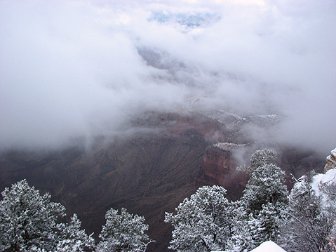 World Travel Photos :: USA - Arizona - Grand Canyon :: Grand Canyon in Winter Time