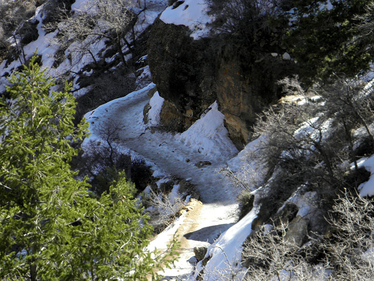 World Travel Photos :: USA - Arizona - Grand Canyon :: Grand Canyon - it is still lots of snow in March...