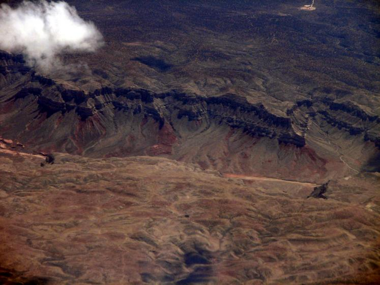 World Travel Photos :: Aerial views :: View from the airplane on Grand Canyon