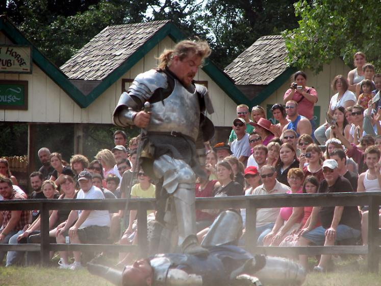 World Travel Photos :: USA - Michigan - Renaissance Festival  :: Michigan. Renaissance Festival - now you see who is the best...