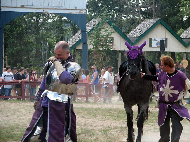 World Travel Photos :: USA - Michigan - Renaissance Festival  :: Michigan. Renaissance Festival - after the battle...