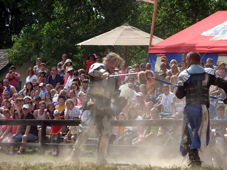 World Travel Photos :: USA - Michigan - Renaissance Festival  :: Michigan. Renaissance Festival - the fight is over