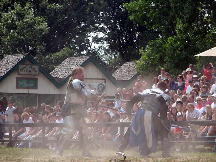 World Travel Photos :: USA - Michigan - Renaissance Festival  :: Michigan. Renaissance Festival - a fight