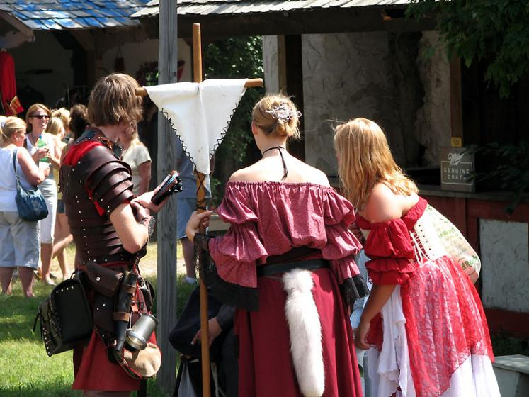 World Travel Photos :: USA - Michigan - Renaissance Festival  :: Michigan. Renaissance Festival - who has the best tail?