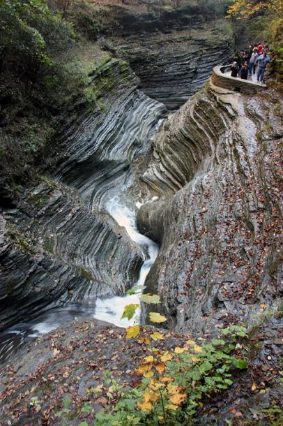 World Travel Photos :: The most beautiful natural spots :: Carved rocks of Watkins Glen State Park, New York
