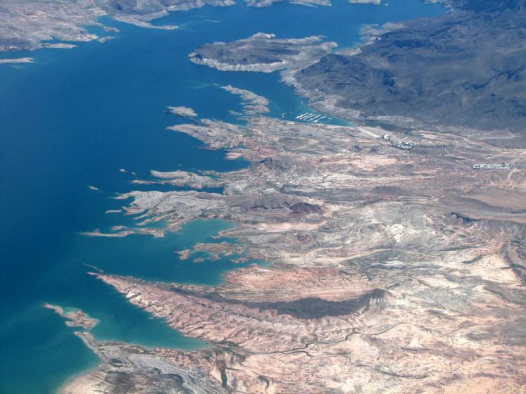World Travel Photos :: USA - Misc :: Colorado river from the airplane