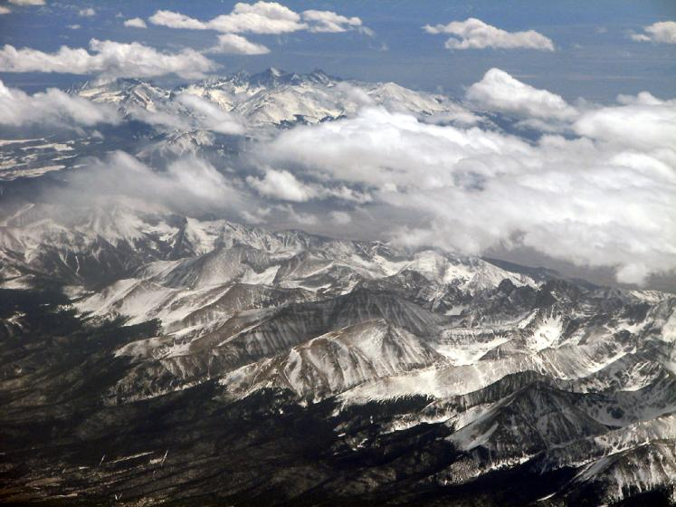 World Travel Photos :: Aerial views :: Rockies in USA