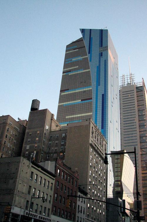 World Travel Photos :: Interesting unusual buildings :: New York City. Blue Building