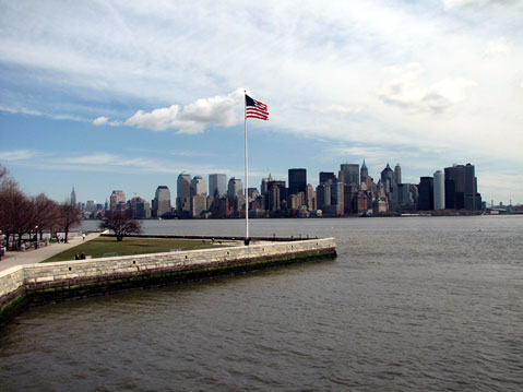 World Travel Photos :: Panoramic views :: New York City. Liberty Island