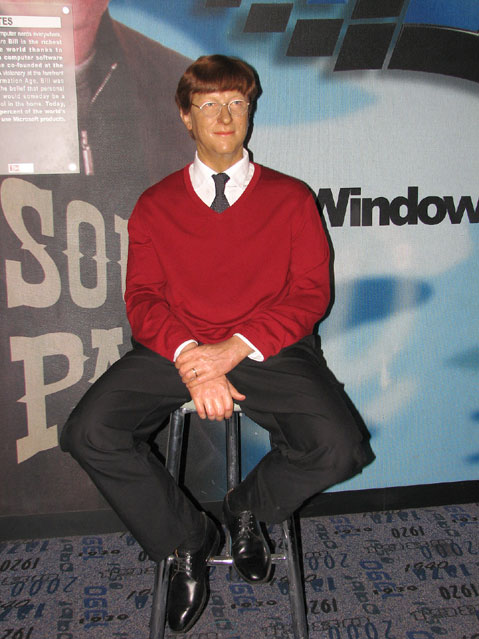 World Travel Photos :: Madame Tussauds Мuseum :: New York City. Madame Tussauds Мuseum - Bill Gates