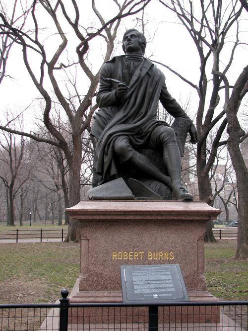 World Travel Photos :: Monuments :: New York City. Memorial of Robert Burns in Central Park