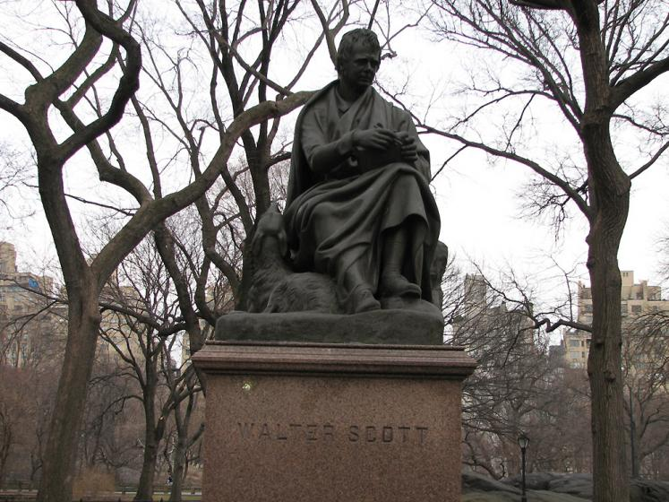 World Travel Photos :: Monuments & sculpture compositions :: New York City. Memorial of Walter Scott in Central Park