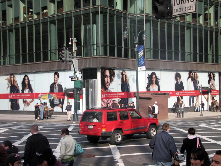 World Travel Photos :: Billboards and shop windows :: New York. 5th Avenue