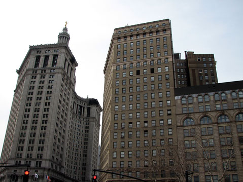 World Travel Photos :: USA - New York City :: New York City. Lower Manhatten. Municipality Building (Left)