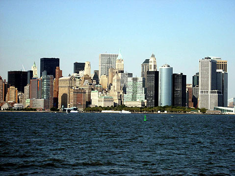 World Travel Photos :: Panoramic views :: New York. View on Manhatten from Liberty Island