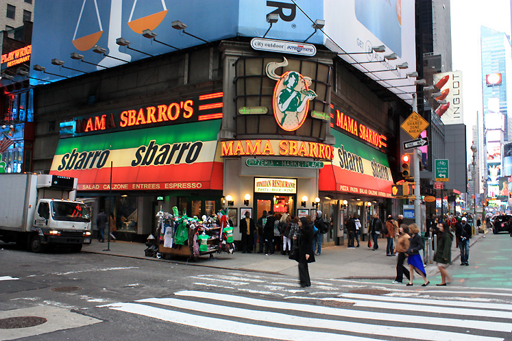 World Travel Photos :: USA - New York City :: NYC - Sbarro on Times Square