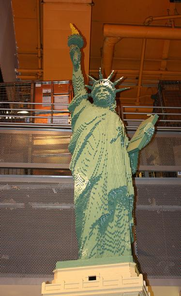 World Travel Photos :: USA - New York City :: New York City. A Statue of Liberty model made of Lego in Toys R Us