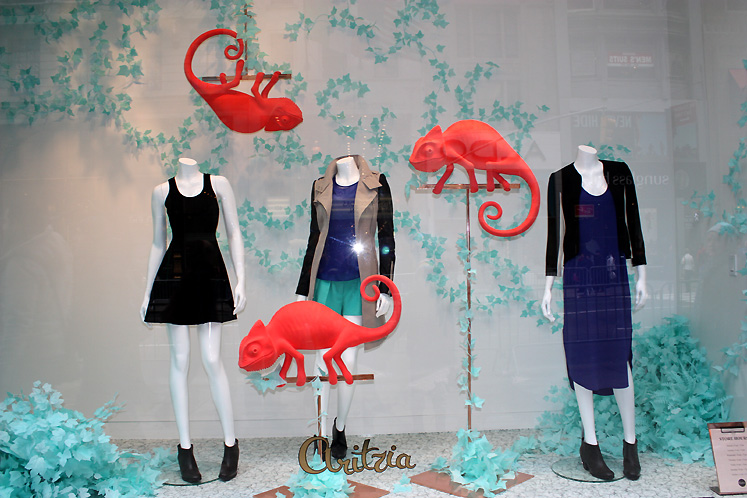World Travel Photos :: Shop-Windows  :: New York City. A shop window of Aritzia store