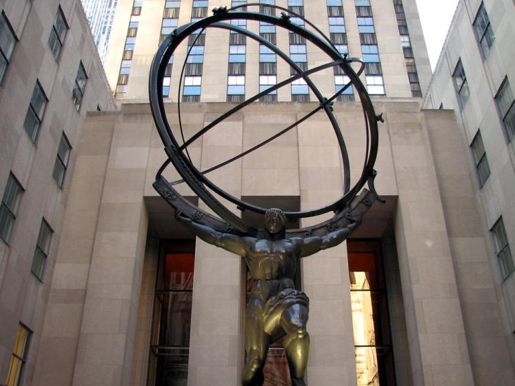 World Travel Photos :: Rockefeller Center :: New York City. Rockfeller Center - Atlas Statue