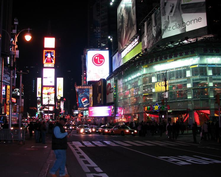 World Travel Photos :: Billboards and shop windows :: New York City. View on Times Square