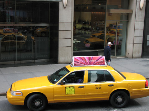 World Travel Photos :: USA - New York City :: New York City. Yellow Taxi Cab