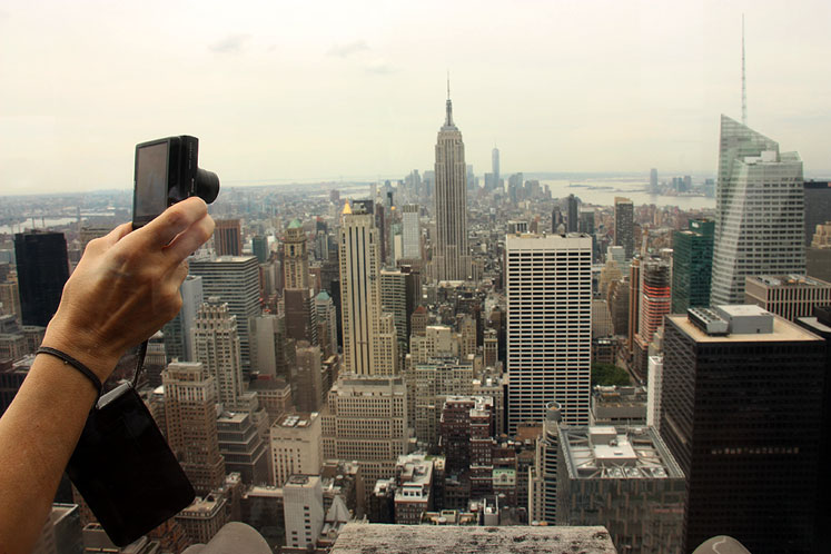 World Travel Photos :: Panoramic views :: New York City - at the top of Rockefeller Center