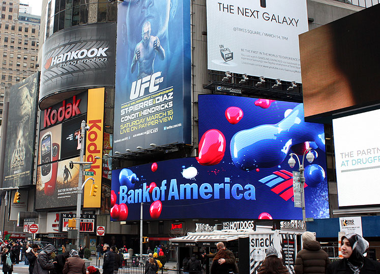 World Travel Photos :: USA - New York City :: New York City - billboards of the Times Square