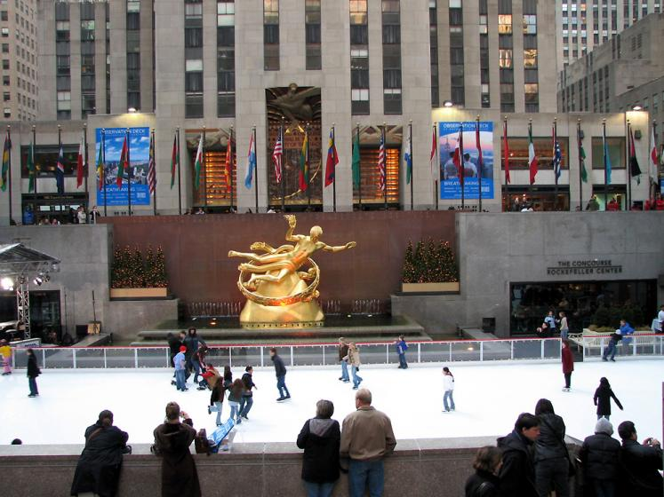 World Travel Photos :: Rockefeller Center :: New York City. Skating Rink in Rockfeller Center
