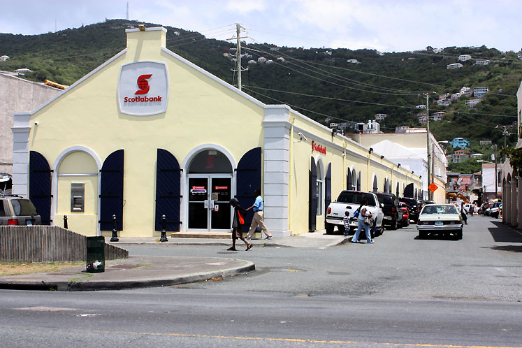 World Travel Photos :: USA - Virgin Islands :: St. Thomas - Scotiabank