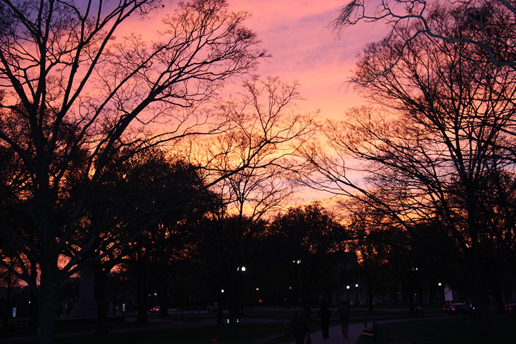 World Travel Photos :: visitor :: A colorful sunset in Washington, DC
