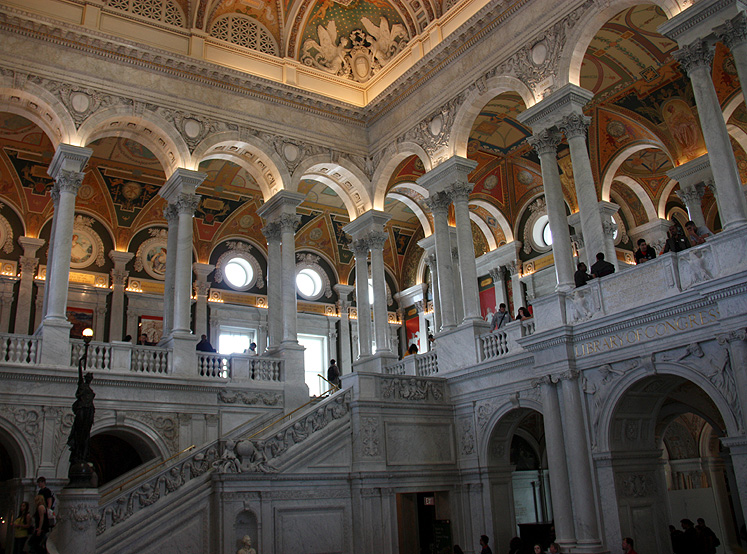 World Travel Photos :: USA - Washington, D.C. :: Washington D.C. - Library of Congress main hall