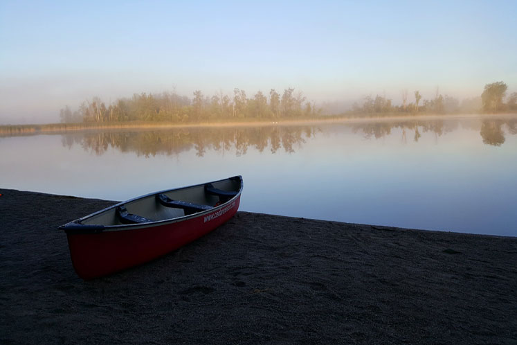 Canada Ontario Photos :: Collingwood :: Foggy morning on Eugenia lake, Canada